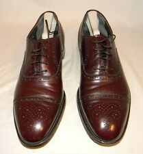 E.T. Wright Burgundy Brouge Leather Cap Toe Oxfords Size 11 1/2B 11.5B