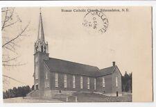 Roman Catholic Church EDMUNDSTON New Brunswick Canada 1912 Wade Drug Postcard