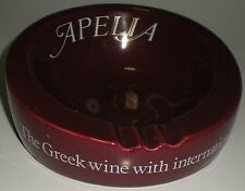 ASHTRAY CERAMIC POTTERY WADE PDM APELIA WINES GREEK WINE INTERNATIONAL APPEAL