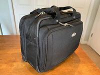 Ricardo Beverly Hills Elite Laptop Black Roller Bag Briefcase Suitcase Carry On