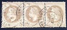 timbre france, n°27, 4c gris empire lauré, BC, Obl, cote 240e TB oblitération