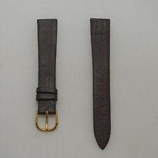 Cinturino pelle stampa lucertola color brown ansa 18 fibbia dorata b43