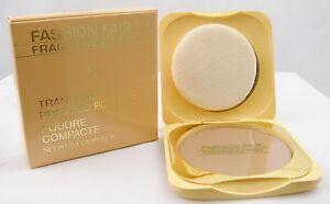 Lot of 3 Fashion Fair Transglo Pressed Powder - Dark (Brun Fonce) A204