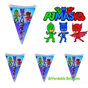 10 X Pj Mask Party Flag Banner. Pj Mask Birthday Party  Decorations