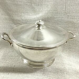 Antique Silver Plated Tureen Serving Bowl ERCUIS Hotel George V Paris France