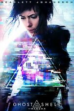 """GHOST IN THE SHELL 2017 Advance Teaser DS 2 Sided 27x40"""" Movie Poster Johansson"""