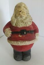 Chalk Ware Santa Vintage Holiday Christmas Hand Painted Plaster