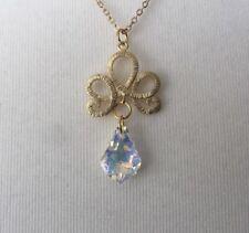 Gold Colour Filigrer Pemdant Necklace With Statement Gemstone