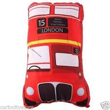 Cojín relleno Bus Rojo de Londres decoración hogar sofá dormitorio casa coche