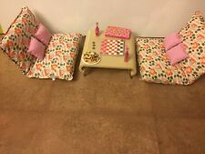American Girl Livingroom furniture lounge chairs & table games