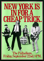 CHEAP TRICK VINTAGE C.B.S. TOUR POSTER FROM NEW YORK'S PALLADIUM 1978