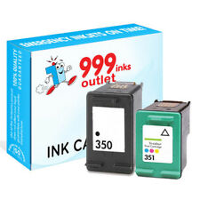 1 Pack 350 Black and 351 Tri-colour Refill Printer ink for Deskjet D4200 J5750