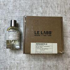 LE LABO BERGAMOTE 22. Eau De Perfume 3.4 fl.oz | 100 ml Unisex.NEW.FREE SHIPPING