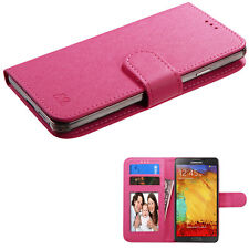 """Universal Cell Phone Cover Leather Flip Wallet Case Slide Camera Size 4.7""""- 5.2"""""""