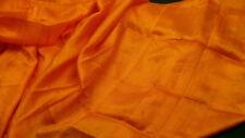 """Silk blend orange shawl long scraf 60"""" X29"""" kerchief tassel  S100"""