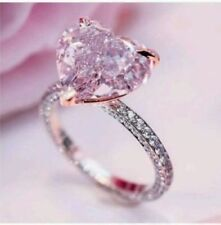 Certified 3.33Ct Fancy Pink Diamond Beautiful Engagement Ring in 14K White Gold