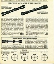 1967 Print Ad of Redfield Variable Power Rifle Scopes