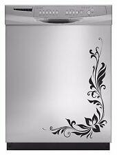 Design Floral Graphic Sticker Decal Dishwasher Refrigerator Washing Machine