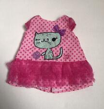"14"" Doll Pink Cat Print Dress-DesignaFriend Sister- Glitter Girls- Paola Reina"