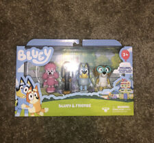 Bluey & Friends 4 pack Figure Set Bluey Coco Snickers And Honey