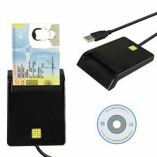 USB2.0 Smart Card Reader DOD Military CAC Common Access-Bank Card-ID For Mac*A!