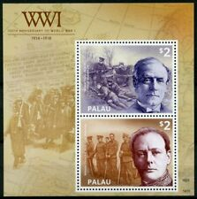 Palau 2014 MNH WWI WW1 World War I Winston Churchill Asquith 2v S/S Stamps