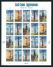 Scott  #4409/13... 44 Cent....Gulf Coast Lighthouses... Pane of  20
