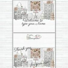 Shabby Art Cottage eBay Auction Listing Template Mobile friendly Responsive |545
