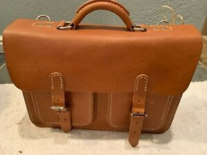 White Buffalo Republic Leather Briefcase