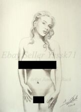 Alice light & Shadow Aceo print Female Nude blonde woman long hair classic fit