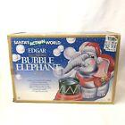 Edgar The Christmas Bubble Elephant Ornament Santas Action World 1995 Vintage
