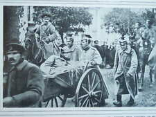 1914 RUSSIAN COSSACKS AND CAPTURED GERMAN UHLANS WW1 WWI