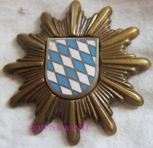 IN12526 - INSIGNE DE CASQUETTE POLICE DE BAVIERE