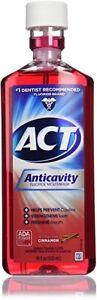 ACT Anticavity Fluoride Rinse, Cinnamon, 18 oz (3 Pack)
