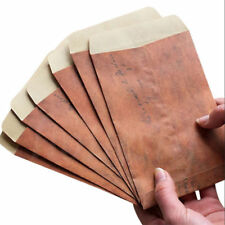 Wholesale 100pcs Vintage Paper Envelopes Mini Retro Brown Kraft Paper Postcards