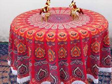 Peacock mandala Indian decor wall hanging yoga mat round beach picnic blanket