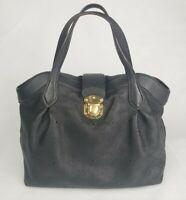 Nice Original Louis Vuitton Black Mahina Leather Cirrus PM Bag