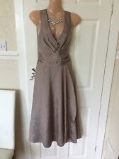 Phase Eight Taupe  Rockabilly Dress Size 10 IMMAC