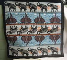 India style Elephant Bandanna Scarf 100% cotton multi-color unisex wild animal