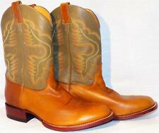 Justin 6008 Sand Mistral Goat Leather Single Welt Leather Sole Cowboy Boots 11EE