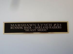 Marshawn Lynch Raiders Autograph Nameplate For A Football Jersey Case 1.25 X 6