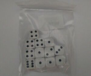 x12 Sisters of Battle white six sided dice