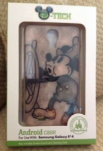 NIB DISNEY PARKS MINNIE MOUSE SAMSUNG GALAXY S4 CASE COVER STEAMBOAT WILLIE RARE