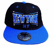 BASECAP Baseball SNAP BACK CAP SCHWARZ BLAU New York Fittet Damen Herren NY 13