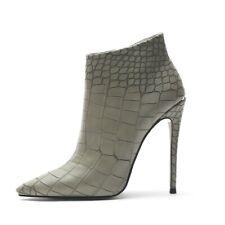 Women Boots High Stilettos Heels Pointed Toe Ankle Boots Zip Party Shoes Plus Sz