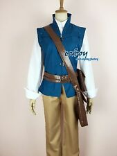 New Movie Enchanted Tangled Rapunzel Prince Flynn Rider Cosplay Costume Any Size