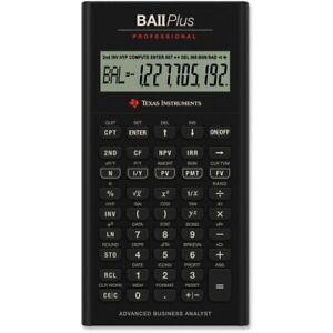 Texas Instruments Professional BA II Plus  10 Digit Financial Calculator