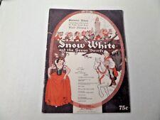 Vintage Walt Disney Snow White Sheet Music Book Irving Berlin Souvenir Album