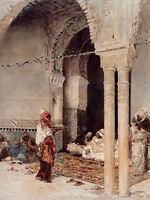 Oil painting mariano jose maria bernardo fortuny - the cafe of the swallows arab
