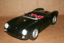 1/18 Porsche 550A Spyder Diecast Model - Black Porsche Roadster Maisto 31843